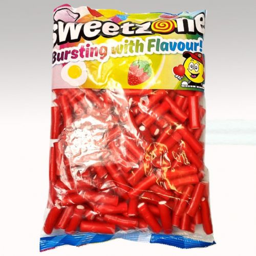 SWEETZONE MINI STRAWBERRY FILLED PENCILS 1KG BAG